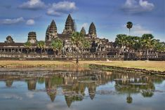 Angkor Wat, Cambodia. Built by the Khymer civilization, Angkor Wat is the most famed Cambodian temple, which even appears on its national flag. The architectural genius unfolds many enduring tales of Cambodian history.