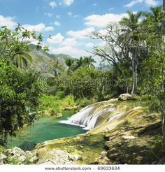 El Nicho Waterfall in Cienfuegos Cuba... 2004 I stayed here for a month to study Spanish