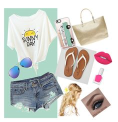 """""""Beach days"""" by ashley-proctor-1 on Polyvore featuring American Eagle Outfitters, Dorothy Perkins, Casetify, ASOS, Lime Crime and tenoverten"""