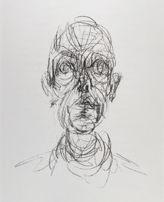 Alberto Giacometti - Portrait d'homme(drawing) (1961)