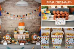Tribal Printable Collection Also in PINK and Yellow/Teal by BelvaJune on Etsy https://www.etsy.com/listing/223506845/tribal-printable-collection-also-in-pink