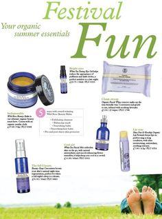 Festival Essentials! Neal's Yard Remedies have some perfect products for Festival goers along with our amazing mini skincare kits!