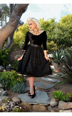 Fall Spanish Capsule Collection in Black Stretch Velvet. | Pinup Girl Clothing