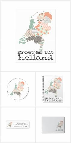 This unique map of Holland features a trendy bohemian pattern print placed on each individual province. Holland Map, Unique Maps, Print Place, Bohemian Pattern, Print Patterns, Great Gifts, Netherlands, Dutch, Van