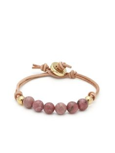 Bead & Leather Friendship Bracelet by Ettika Jewelry at Gilt
