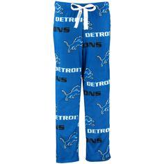 Detroit Lions Concepts Sport Women's Facade Allover Print Pajama Pants - Blue - $30.39