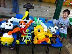 balloon kungfu panda for birthday party