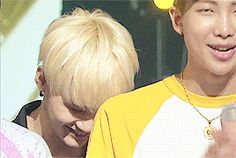 Yoongi's smile AND Rapmon's dimples in one gif? Can't.