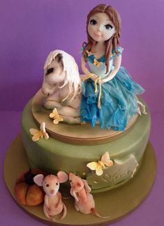 Girl with the horse - Cake by Cristina