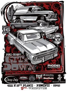 rendering   drawing hot rods