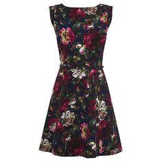 Buy Oasis Skater Dress, Multi Blue Online at johnlewis.com