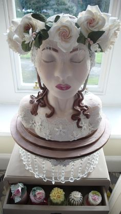 Vintage Bride - WW1.  3D Sculptural Cake made to commemorate the 100th year since WW1.