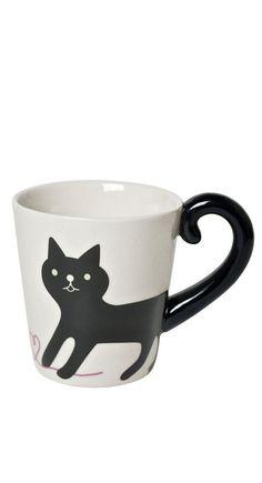 Cat tail mug