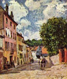 Street in Moret Sur Loing, 1892  Alfred Sisley