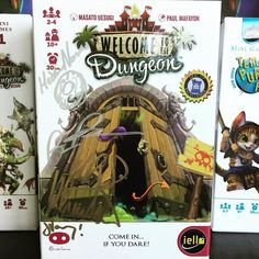 #welcometothedungeon signed by the guests of the Season 4 #geekandsundry #tabletop episode! Sitting front and center on our #minigames shelf! -- #bgg #wilwheaton #boardgames #cardgames by iello_usa