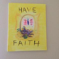 #homedecor #light #positivemindset #faith #happy #art #butterfly 45$ 16X20 Oil and acrylic