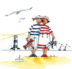 China Painting, Pebble Painting, Marines Funny, Nautical Art, Nautical Dress, Art Folder, Happy Paintings, Arte Popular, Coastal Art