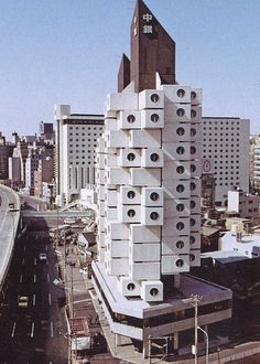Nakagin Capsule Tower by architect Kisho Kurokawa, Tokyo