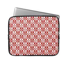 Unicorn Red Heart Laptop Sleeve