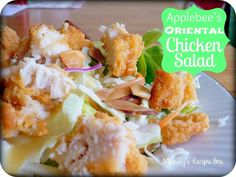 This copycat Applebee's Oriental Chicken Salad tastes EXACTLY like the real thing. Make it at home any time you want, it's so easy!