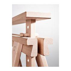 FINNVARD Trestle with shelf, beech beech 70x71/93 cm