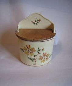 Vintage Olde Thompson Ceramic Salt Box by VieuxOaklandVintage, $45.00