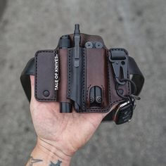From beginning to end, our family business handcrafts everyday carry leather goods, the good old fashioned way, by hand! #edc #everydaycarrry #tools #gear #survival #prepare Leather Holster, Leather Pouch, Edc Belt, Knife Holster, Custom Holsters, Edc Everyday Carry, Leather Projects, Stitching Leather, Leather Working