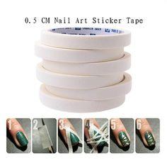 2PCS 17m*0.5cm French Manicure Nail Art Tips Creative Nail Stickers Masking Tape Do pattern Nail Repair Tools Nail Decoration