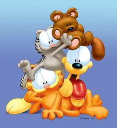 Nothing Like A Lazy Sunday With Few Friends Garfield And Odie Cartoon