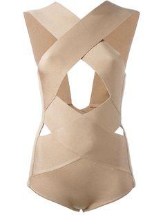 Balmain crisscross front bodysuit