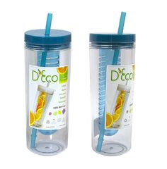 Fruit Infuser Water Bottle by D'Eco (Blue) Infused Water Recipes, Fruit Infused Water, Infused Water Bottle, Water Bottles, Water Bottle With Straw, Fat Flush, I Work Out, Wine Making, Home Brewing