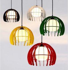 Modern Round Pendant Ceiling Light Fashion Metal Glass Lamp Shade Chandelier | eBay