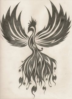Phoenix tattoo design by ~SapphireSoul102 on deviantART Feel free to use this design to get a tattoo, just give me credit and tell me you're going to use it. Or you can give me a request and I'll draw one for you personally :D