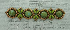Playing with my beads...Sunflower Bracelet with Candy Beads