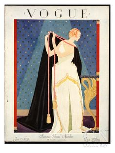 Vogue Cover - June 1924 Poster Print by George Wolfe Plank at the Condé Nast Collection