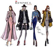 #Hayden Williams Fashion Illustrations: LFW illustrations for Rimmel London by Hayden Williams