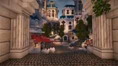 WIP] Edyne Town High elves city contest #WeAreConquest Minecraft Project Elf city Minecraft projects High elf