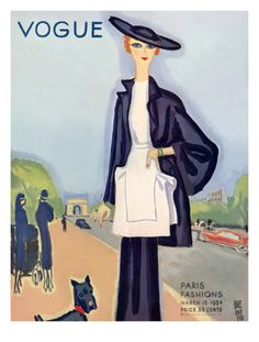 Vogue Cover - March 1934 by Eduardo Garcia Benito