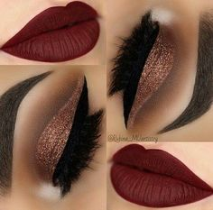 36 Best Maroon Matte Lipstick Shades to Look Stunningly Beau.- 36 Best Maroon Matte Lipstick Shades to Look Stunningly Beautiful Beautiful Makeup Ideas with Maroon Lips picture 3 - Cute Makeup, Prom Makeup, Gorgeous Makeup, Pretty Makeup, Wedding Makeup, Makeup Ideas Party, Wedding Nails, Makeup For Quinceanera, Quinceanera Dresses Maroon