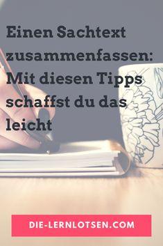 Sachtext zusammenfassen ist leicht, wenn du dich an diese Tipps und Regeln hältst. Sachtexte in Deutsch, Geschichte, Biologie perfekt strukturieren. School, Dependent Clause, Spelling