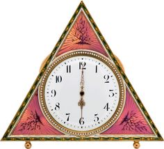 """Set your clocks (this one's the Tsarina's Triangular Pink Clock), """"Faberge: Imperial Jeweler to the Tsars"""" opens June 23 at the Bowers Museum of Cultural Art!  Photo © C+M Photography"""