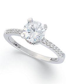 14k White Gold Lucia-Cut Solitare Diamond Engagement Ring (1-1/5 ct. t.w.) macys