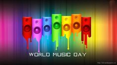 Happy world music day 2016 wishes .Music day is on 21 june. Get famous music day quotes Inspiring Music quotes for World Music Day 2016 by famous musicians Speaker Wallpaper, Musik Wallpaper, World Music Day, Music Is Life, Rock Songs, Rock Music, Jazz Music, World No Tobacco Day, Inspirational Rocks