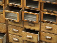 Haberdashery Cabinet wat zou ik graag zo'n kast bezitten