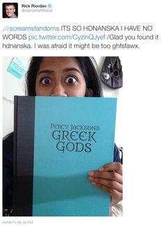 I love Uncle Rick! And I need that SO bad! Jackson Song, Percy Jackson Memes, Percy Jackson Books, Percy Jackson Fandom, Solangelo, Percabeth, Olympus Series, Team Leo, Best Authors