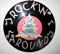 Rockin around the Christmas Tree. Parade decorated on a sheet? Christmas Parade Floats, Christmas Rock, Office Christmas, Christmas Tree Themes, Retro Christmas, Xmas Decorations, Christmas Crafts, Christmas Ornaments, Xmas Tree