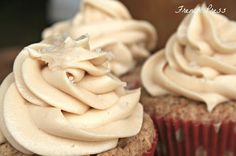 Apple Spice Cupcakes with Salted Caramel Frosting - Heather's French Press