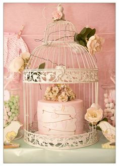 bird baby shower cake
