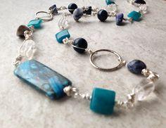 Blue sodalite stone quartz crazy agate and by EvadesignsMaine