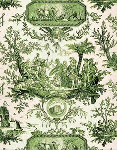 Green ~ La bastille toile , circa 1790